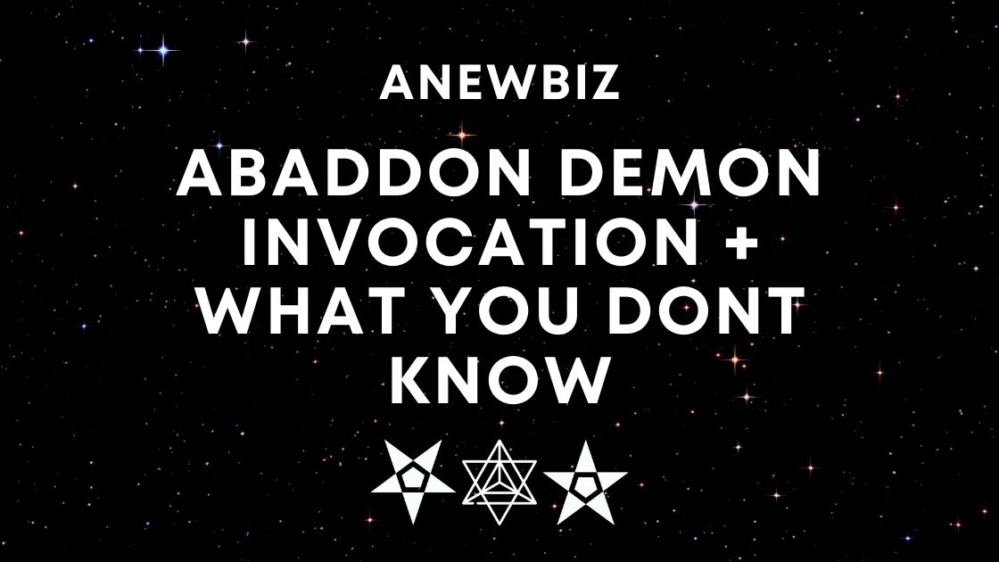 Abaddon Demon Invocation + WHAT YOU DONT KNOW